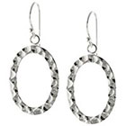 Target Silver Plated Hammered Oval Drop Earrings