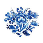 Tattoorary Vintage Dutch 'Delfts Blauw' floral temporary tattoo