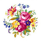 Tattoorary Colorful vintage floral temporary tattoo