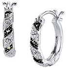 Target Silver Plated Marcasite and Cubic Zirconia Hoop Earrings - 21.2mm