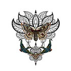 Arrow Tattoo Large Bohemian Lotus Temporary Tattoo wrist ankle body sticker fake tattoo