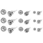 Target Multiple Stone and Size Stud Earring Set - Silver