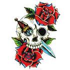 MyBodiArt Sugar Skull Tattoo, Rose Tattoo, Temporary Tattoo Skull, Tattoo Flash Art, Tribal, Arm Sleeve, Watercolor, Punk, Flash Art, Rock and Roll