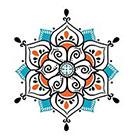 myTaT Henna Blue Mandala Tattoo, Blue Mandala Temporary Tattoo (set of 2)
