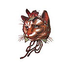 NovuInk Tinker Cat x2 Waterproof Temporary Tattoo Transfer (Original Hand Painted Art Design)
