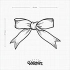 TattooWhatever Bow Temporary Tattoo - Hand drawn, Available in 2 colours, Set of 2