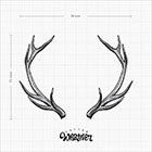 TattooWhatever Antlers Temporary Tattoo - Hand drawn, Available in 2 colours