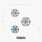 TattooWhatever Snowflake Temporary Tattoo - Hand drawn, 2 Colours, Set of 2,