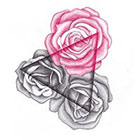 Tattoocrew Includes 2 tattoos: temporary tattoo roses temporary Tattoo Rosen, hand made, triangle, triangle, geometry
