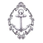 Tattoocrew Includes 2 tattoos: temporary anchor tattoo, anchor, temporary tattoo, Navy, ship, sailor, hand draw, black and white, art, body art