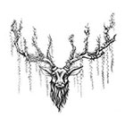 Tattoocrew Includes 2 tattoos: hand made temporary tattoos, deer, deer, temporary tattoos, temporary tattoo, vintage, antlers, antler