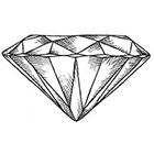 Tattoocrew Includes 2 tattoos: hand made diamond temporary tattoo, temporary tattoo, hipster, diamond shine, bling, temporarily, geometric, geometric