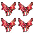 TattooGirlsRule 4 Red Bow Temporary Tattoos (#Bow510_4)