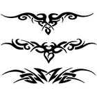 TattooGirlsRule 3 Tribal Lower Back Temporary Tattoos (#G525)