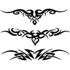 TattooGirlsRule 3 Tribal Lower Back Temporary Tattoos (#G525)