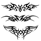 TattooGirlsRule 3 Tribal Lower Back Temporary Tattoos (#G523)