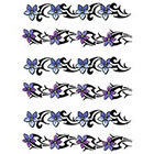TattooGirlsRule 6 Flower Bracelet Temporary Tattoos (#BC508_3)