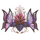 TattooGirlsRule Smaller Butterflies with Lotus Temporary Tattoo (#BN518S)