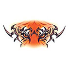 TattooGirlsRule Large Tiger Eyes Temporary Tattoo (#CD527L)