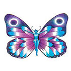 TattooGirlsRule Fairy Butterfly Blue and Purple Temporary Tattoo (#AA505)
