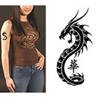 TattooGirlsRule Chinese Serpent Temporary Tattoo (#BC563)