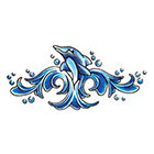 TattooGirlsRule Happy Dolphin Temporary Tattoo (#D536)
