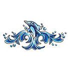 TattooGirlsRule Happy Dolphin Temporary Tattoo (#D536)