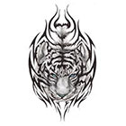 TattooGirlsRule Tribal Tiger Head Temporary Tattoo (#BC573)