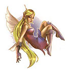 TattooGirlsRule Blond Fairy Temporary Tattoo (#AM565)
