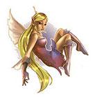 TattooGirlsRule Blond Fairy Temporary Tattoo (#AM565)
