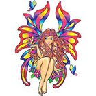 TattooGirlsRule Colorful Butter Fairy Temporary Tattoo (#BC537)