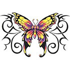 TattooGirlsRule Large Yellow Butterfly Temporary Tattoo (#BC538)