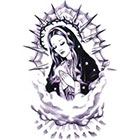 TattooGirlsRule Blessed Mother Mary Temporary Tattoo (#VSM502)
