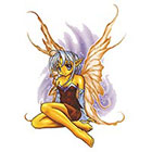 TattooGirlsRule Fairy Sitting Temporary Tattoo (#AM557)