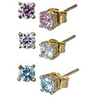 Target Round Cubic Zirconia Stud Earrings Set - Mulitcolor