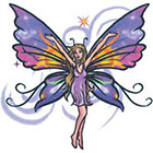 TattooGirlsRule Joyful Butterfly Fairy Temporary Tattoo (#AM519)