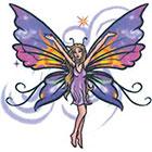 TattooGirlsRule Joyful Butterfly Fairy Temporary Tattoo (#AM519)