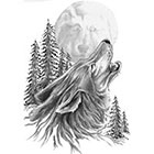 TattooGirlsRule Wolf Howling Temporary Tattoo (#DB512)