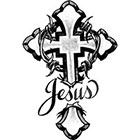 TattooGirlsRule Jesus Cross Temporary Tattoo (#BC587)