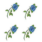 TattooGirlsRule 4 Small Blue Rose Temporary Tattoos (#317_4)