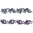 TattooGirlsRule 2 Flower Bracelet Temporary Tattoos (#BC508)