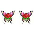 TattooGirlsRule 2 Rose and Butterfly Temporary Tattoos (#BN501_2)