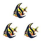 TattooGirlsRule 3 Angel Fish Temporary Tattoos (#P362_3)