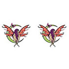 TattooGirlsRule 2 Fairy on tht Moon Temporary Tattoos (#D402_2)