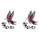 TattooGirlsRule 2 Fancy Butterfly Temporary Tattoos #D407_2