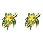 TattooGirlsRule 2 Tree Frog Temporary Tattoos (#403_2)
