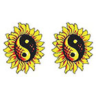 TattooGirlsRule 2 Sunflower YinYang Temporary Tattoos (#409_2)