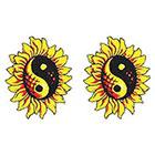 TattooGirlsRule 2 Sunflower YinYang Temporary Tattoos (#409_2)