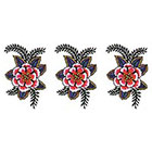 TattooGirlsRule 3 Red Flower Temporary Tattoos (#D303_3)