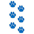 TattooGirlsRule 6 Blue Paw Print Temporary Tattoos (#PB353_3)